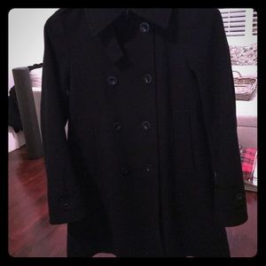 Theory Black Classic A-Line Peacoat